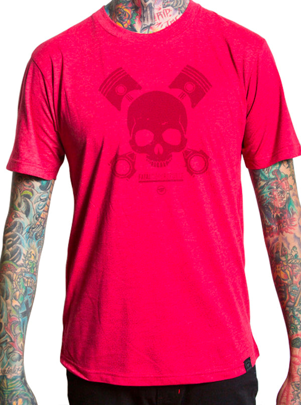Men's Piston Skull Tee by Fatal Clothing