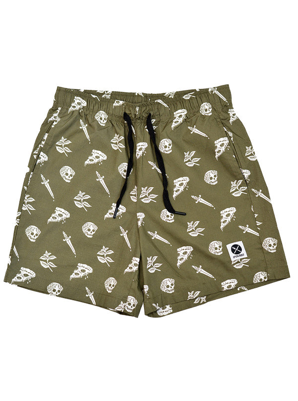 Unisex Pizza Slayer Walk Shorts by Pyknic