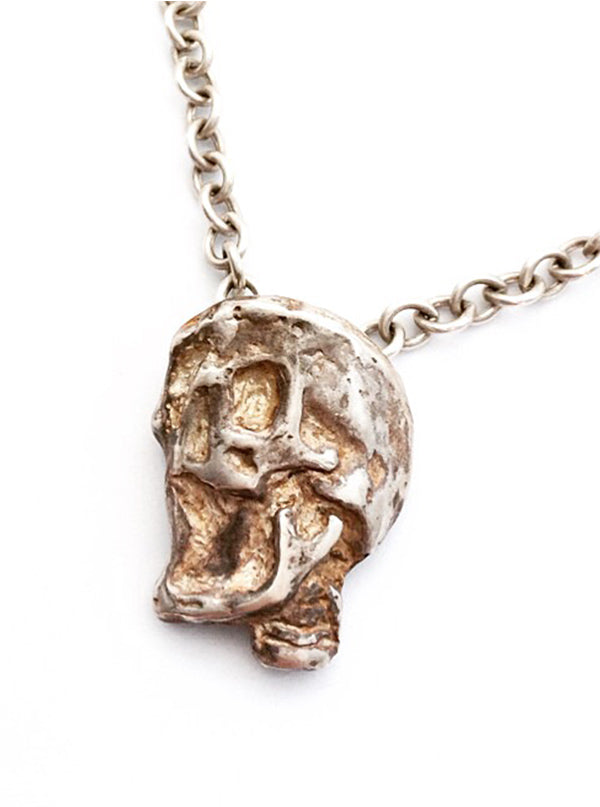 Plague Skull Necklace by Lugdun Artisans (Sterling Silver)
