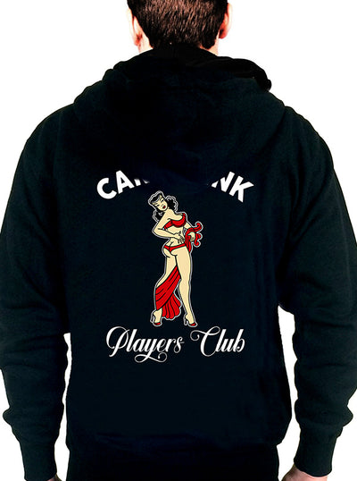 Men's Pin-Up Player's Club Zip-Up Hoodie by Cartel Ink