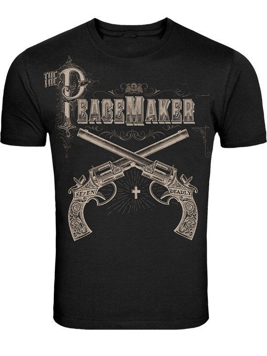"Men's ""Peacemaker"" Tee by Se7en Deadly (Black) - www.inkedshop.com"