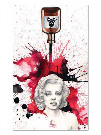 """Poisoned Marilyn"" Art Print by Christina Ramos for Black Market Art - InkedShop - 1"