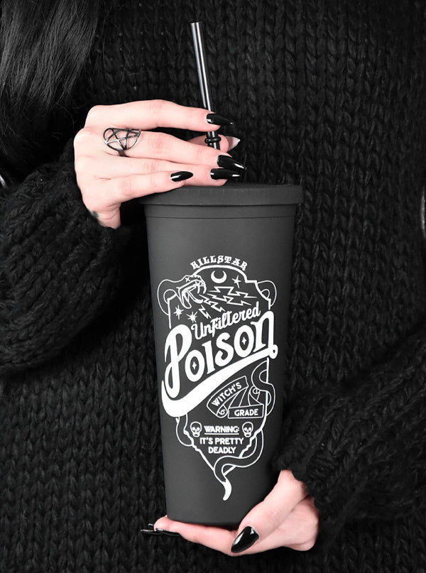 """Poison"" Cold Brew Cup by Killstar (Black)"