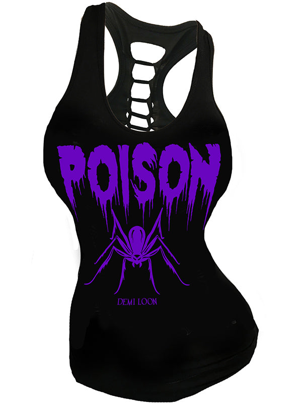 Women's Poison Spider Slashed Back Tank by Demi Loon