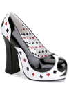 "Women's ""Poker"" Heels by Funtasma (Black/White) - www.inkedshop.com"