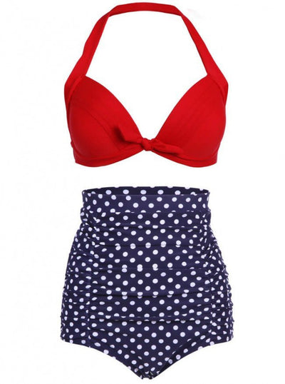 "Women's ""Polka Dot"" High Waist Bikini by Pretty Attitude Clothing (More Options) - www.inkedshop.com"