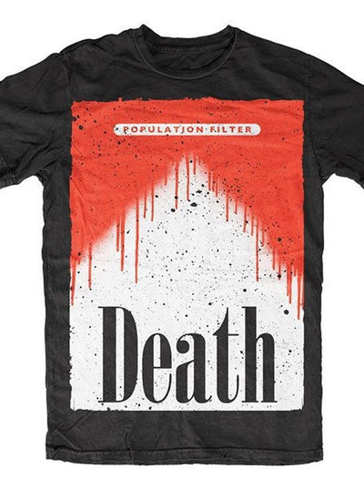 "Men's ""Population Filter"" Tee by Skygraphx (Black) - www.inkedshop.com"
