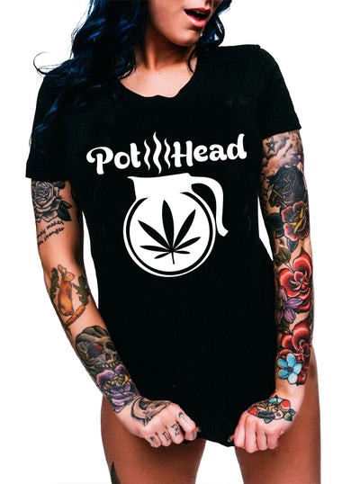 Unisex Pothead Tee by Dirty Shirty