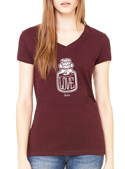 Women's Love Potion V-Neck Tee by Inked