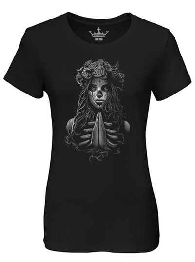 Women's Livin' on a Prayer Tee by Tat Daddy