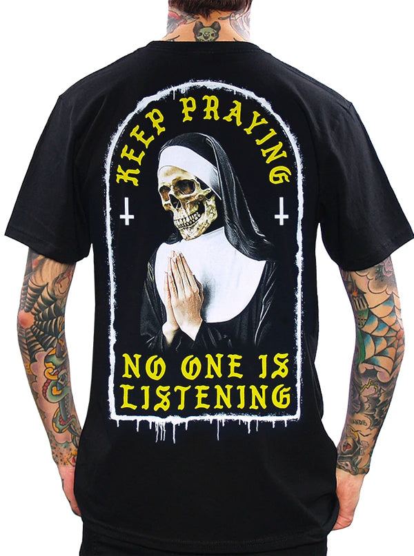 Men's Keep Praying Tee by Skygraphx