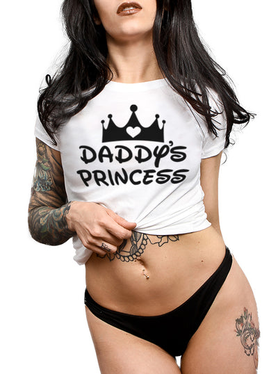 Women's Daddy's Princess Tee by Dirty Shirty
