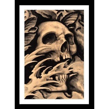 Screaming Skull by Clark North - InkedShop - 2