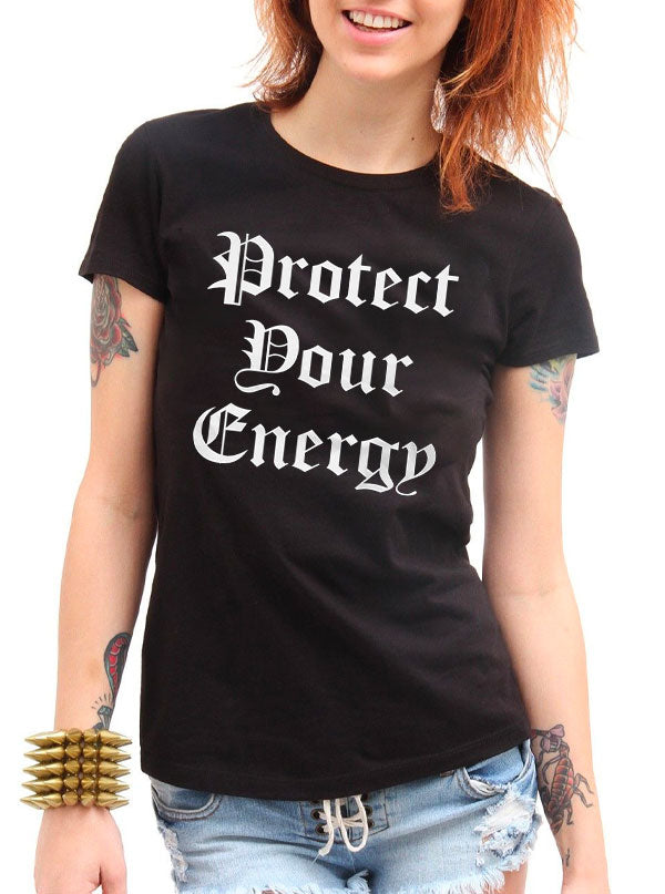 Women's Protect Your Energy Tee by Cartel Ink