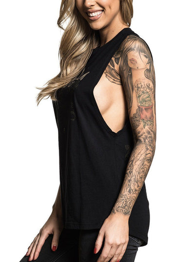 "Women's ""Protected"" Muscle Tee by Sullen (Black)"