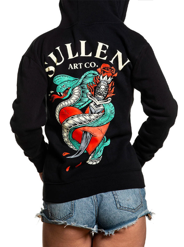 "Women's ""Protector"" Zip Hoodie by Sullen (Black)"