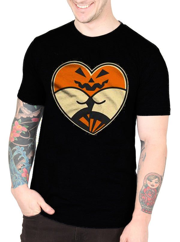 Men's Pumpkin Tattoo Heart Butt Tee by Cartel Ink