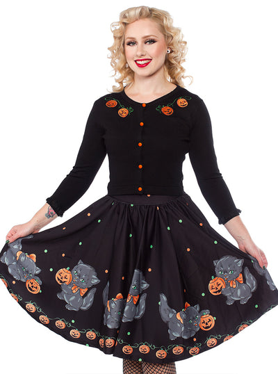 Women's Pumpkin Queen Cardigan by Sourpuss