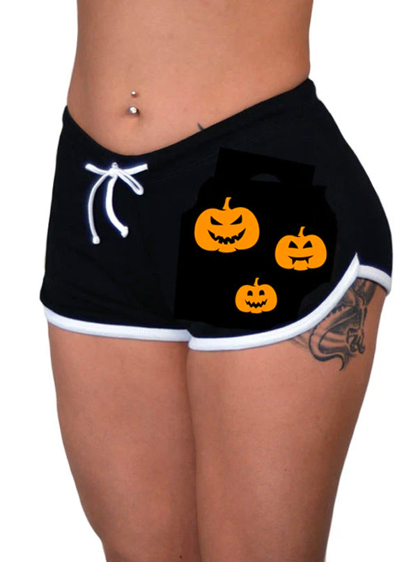 Women's Pumpkin Patch Shorts by Pinky Star