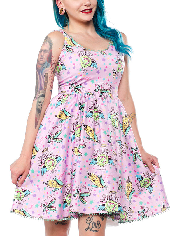 Women's Pun With Food Sweets Dress by Sourpuss (Pink)
