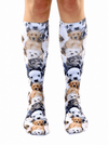 """Puppy"" Knee High Socks - www.inkedshop.com"
