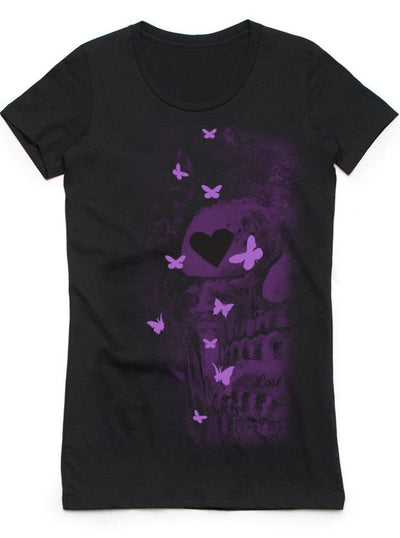 Women's Purple Heart Tee by 7th Revolution (Black)