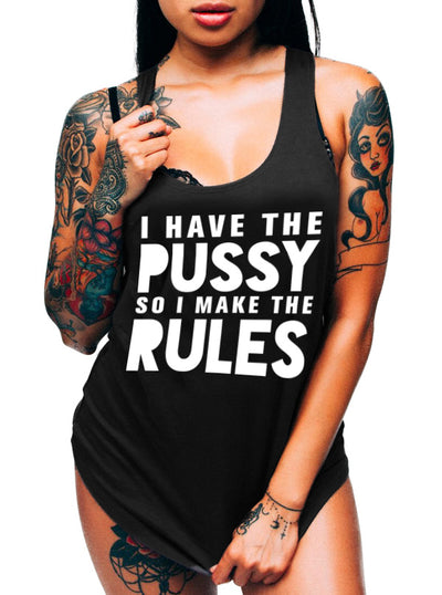 Women's I Make the Rules Tank by Dirty Shirty