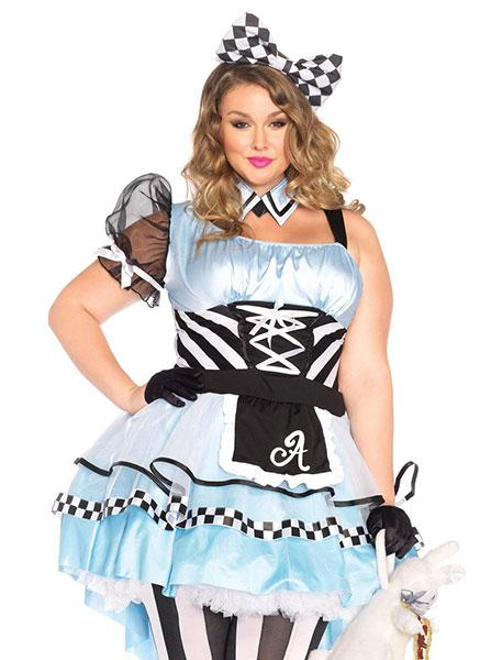 "Women's ""Psychedelic Alice"" Plus Size Costume by Leg Avenue (Blue)"