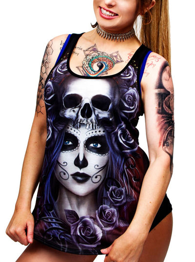 Women's Queen Of Death Sublimation Tank by Lethal Angel