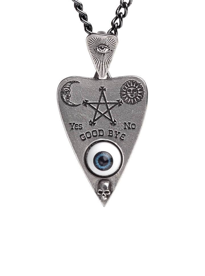 """Planchette"" Pendant and Necklace by Alchemy of England (Pewter) - www.inkedshop.com"