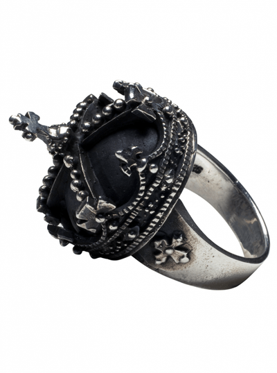 """Imperial Crown"" Ring by Femme Metale - www.inkedshop.com"