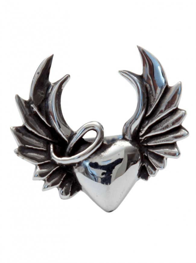 """Naughty Heart"" Ring by Femme Metale - www.inkedshop.com"