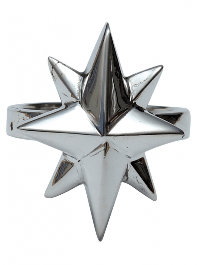 """North Star"" Ring by Femme Metale - www.inkedshop.com"