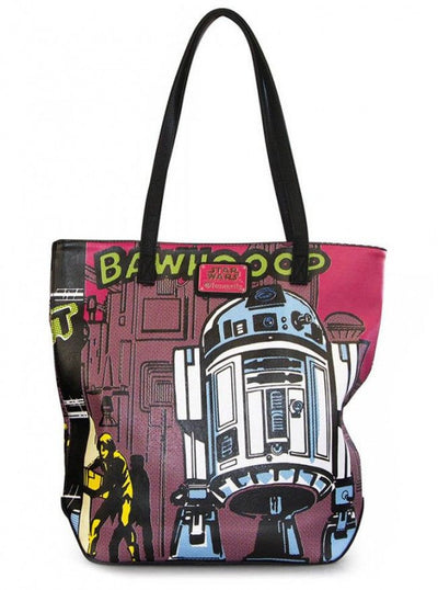 """Star Wars R2-D2"" Comic Tote by Loungefly (Multi) - www.inkedshop.com"