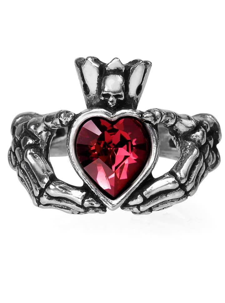 """Claddagh By Night"" Ring by Alchemy of England - www.inkedshop.com"