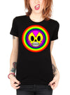 "Women's ""Rainbow"" Tee By Skelly & Co (Black)"