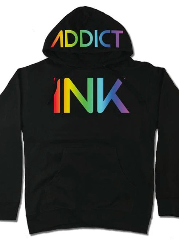Women's INK Rainbow Hoodie by InkAddict