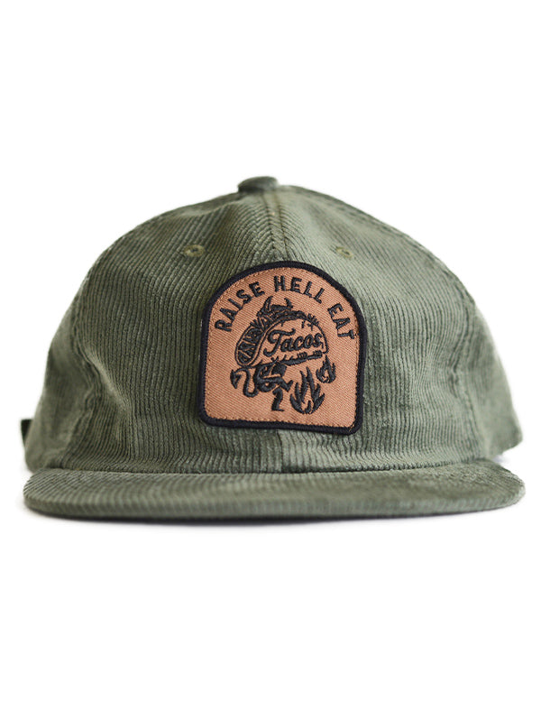 Raise Hell Eat Tacos Hat by Pyknic