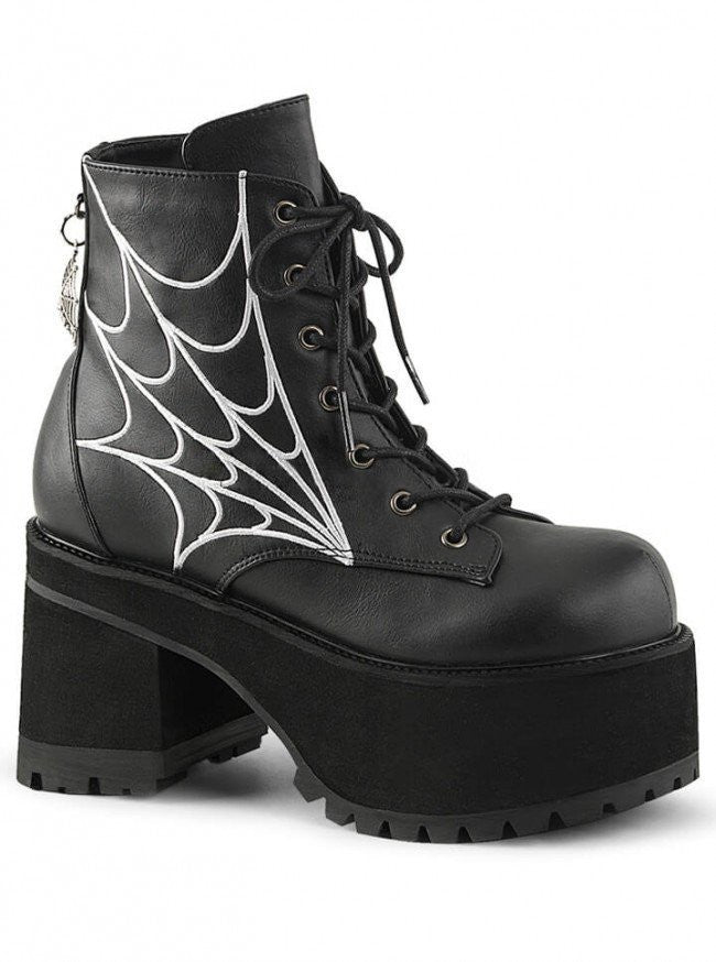 "Women's ""Ranger 105"" Ankle Boot by Pleaser (Black) - www.inkedshop.com"