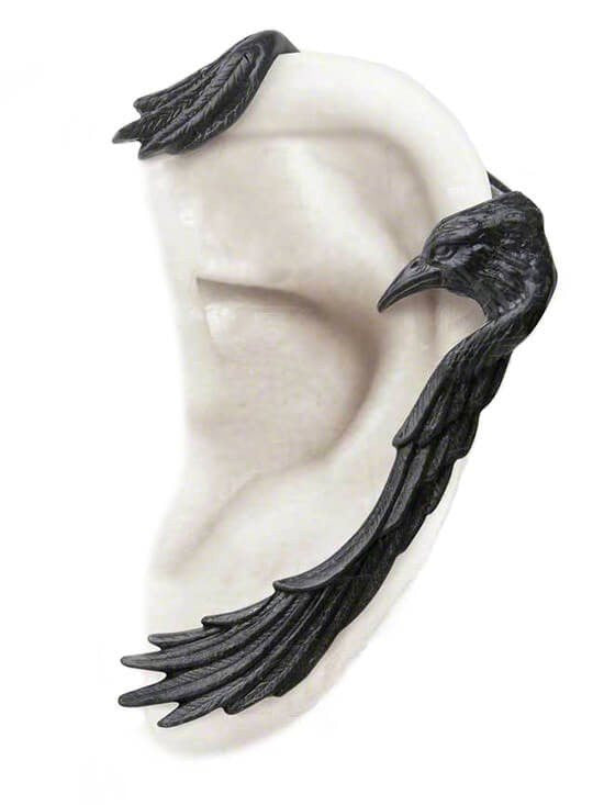 """Raven Earwing"" Ear Wrap by Alchemy of England - www.inkedshop.com"