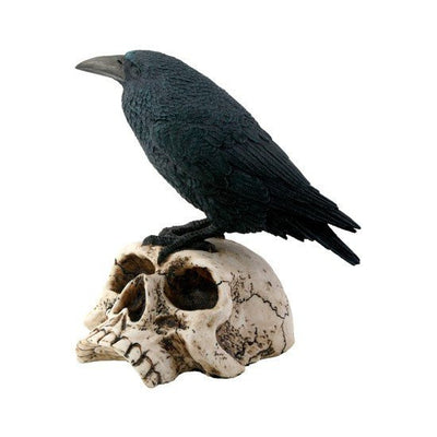 Raven on Skull Statuette by Summit Collection - InkedShop - 1