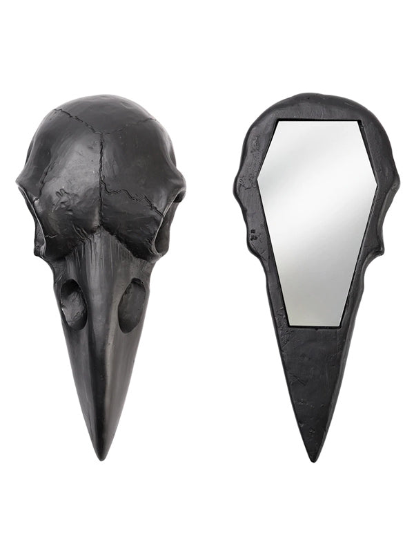 Raven Skull Hand Mirror by Alchemy of England