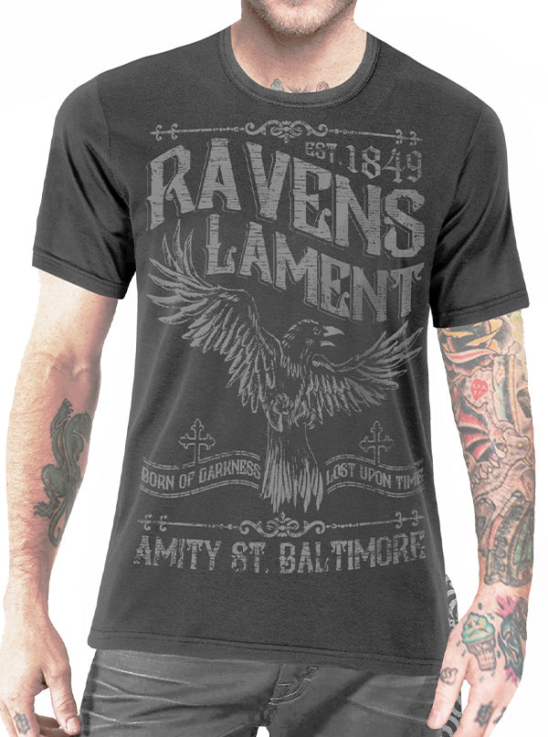 Men's Raven's Lament Tee by Serpentine Clothing