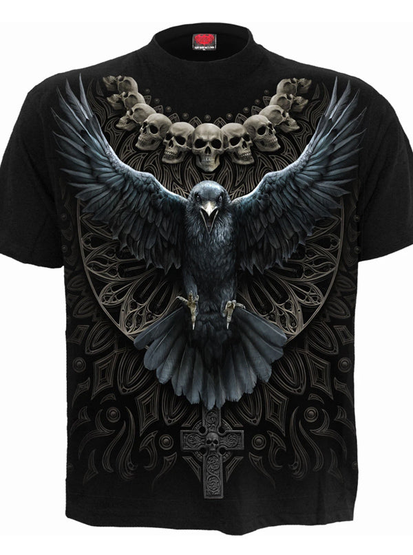 Men's Raven Skull Tee by Spiral USA