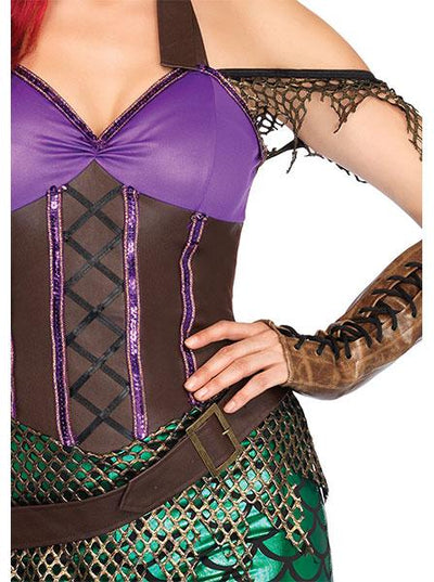 "Women's ""3 pc. Rebel Mermaid"" Costume by Leg Avenue (Multi)"