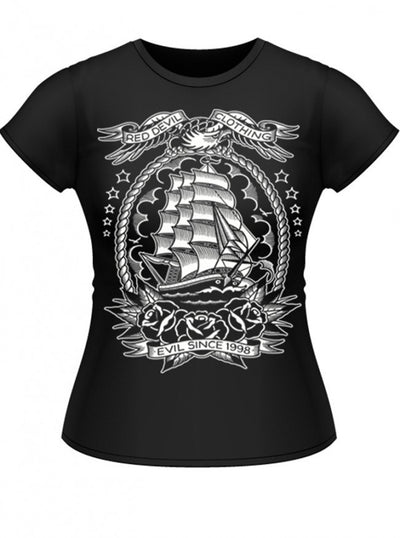 "Women's ""Mariner"" Jrs Tee by Red Devil Clothing (Black) - www.inkedshop.com"