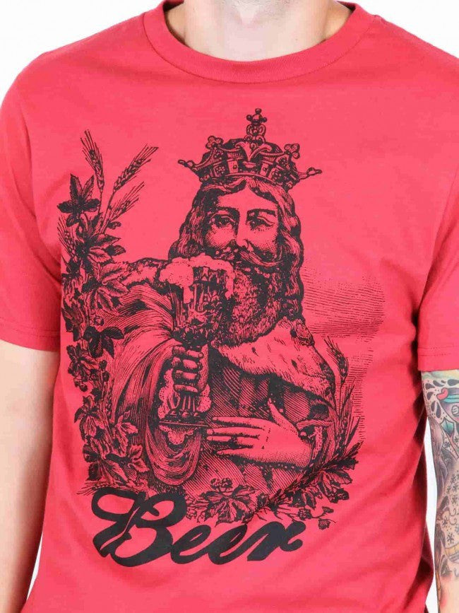 "Men's ""Beer"" Tee by Annex Clothing (Red) - www.inkedshop.com"