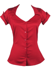 "Women's ""Tailor"" Button Up Shirt by Pinky Pinups (Red) - www.inkedshop.com"