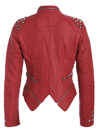 "Women's ""Studded Rocker"" Moto Jacket by Pretty Attitude Clothing (More Options) - www.inkedshop.com"