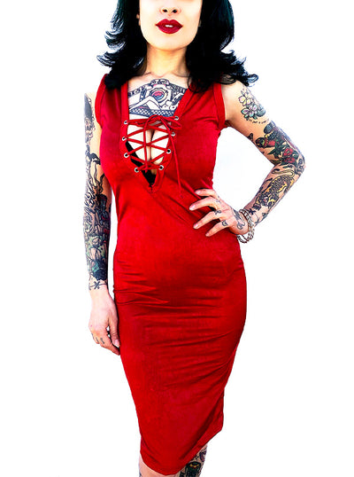 Women's Tied Up Dress by Switchblade Stiletto